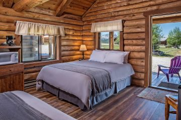 Cabin with bed