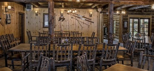 inside of stanley, idaho, restaurant