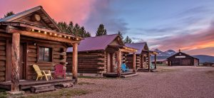 Triangle C Cabins rentals with a beautiful sky in the background