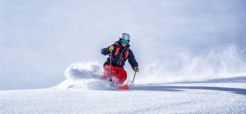 man enjoying Idaho Backcountry Skiing