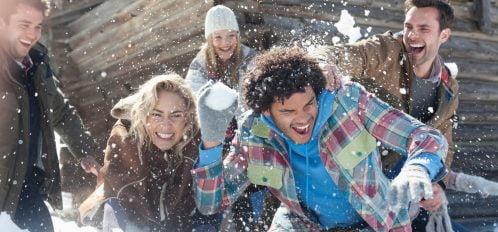 people having fun at Stanley Winterfest