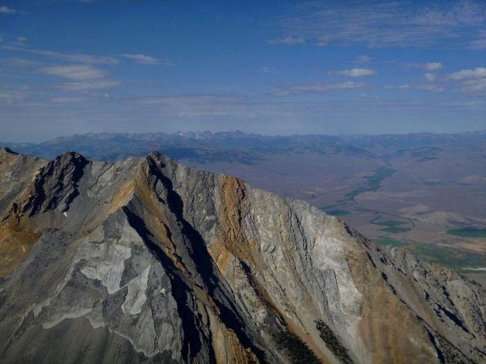 the peak of Mount Borah in Central Idaho